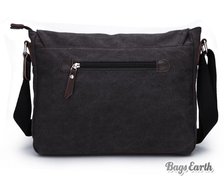 Mens Canvas Satchel Bags, Coffee Canvas Messenger Bag - BagsEarth