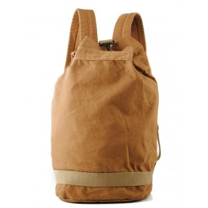 yellow Vintage canvas backpack for men