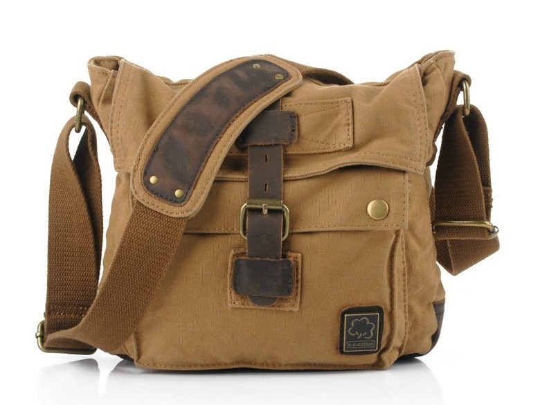 Small messenger bags for men, small canvas messenger bag - BagsEarth