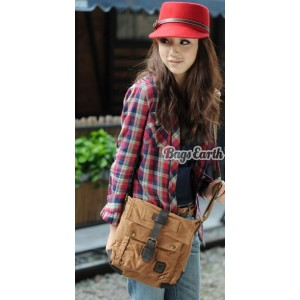 womens small canvas messenger bag