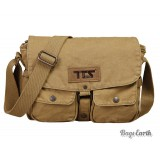 Khaki Canvas Shoulder Bags