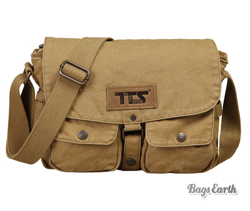 6596bd21ad9f Khaki Canvas Shoulder Bags ...