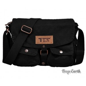 Black Canvas Shoulder Bags