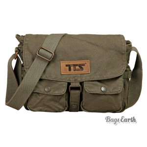 Army Green Canvas Shoulder Bags