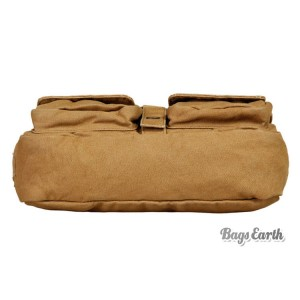 khaki Canvas Shoulder Bags For Men