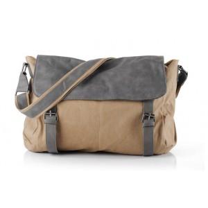 khaki men shoulder bag