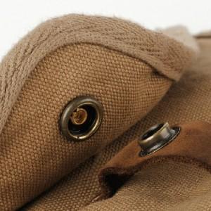 small khaki canvas messenger bag