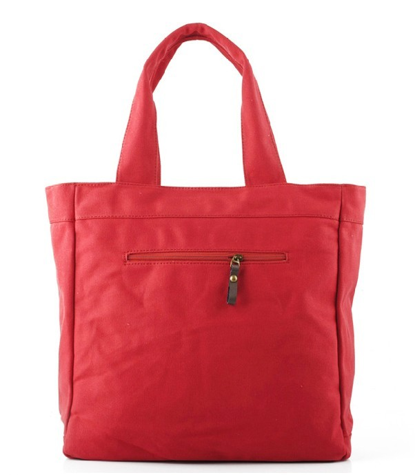 c8a7420fa331 Canvas tote bag with zipper · canvas handbags purses · red ...