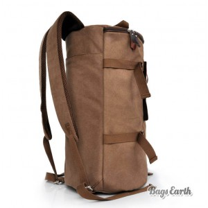 Coffee Canvas Backpack