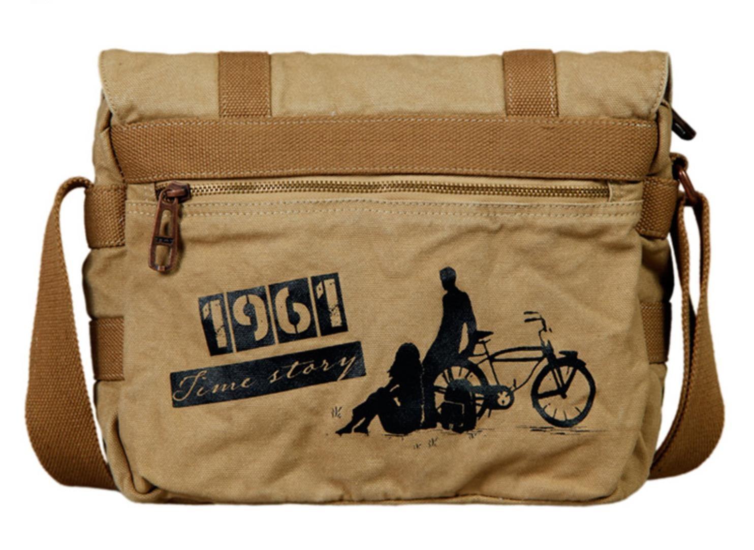 Mens canvas messenger bag, mens satchel messenger bag - BagsEarth
