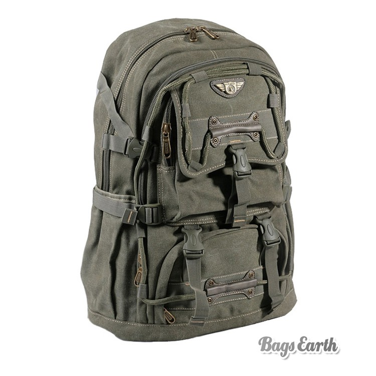 Canvas Computer Backpack For Men, Canvas Rucksack Laptop - BagsEarth