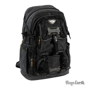 Black Canvas Laptop Rucksack