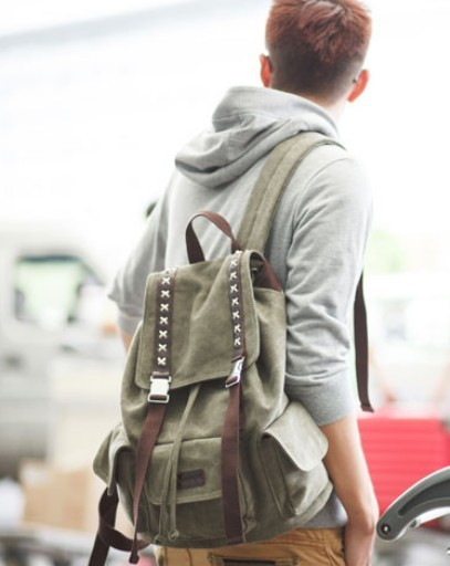 Vintage canvas backpacks for men, unique backpack - BagsEarth