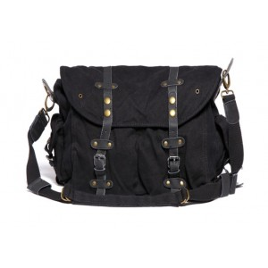 black Briefcase messenger bag
