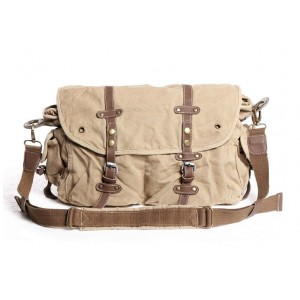 khaki Briefcase messenger bag