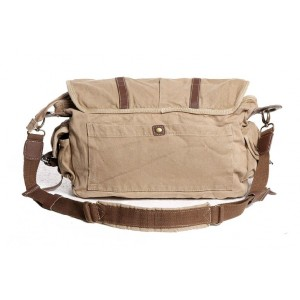 khaki canvas field bag