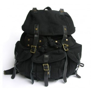black Rucksack backpack