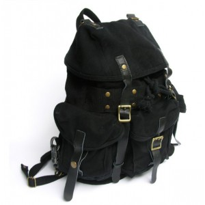 black recycled travel pack