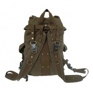 army green recycled travel pack