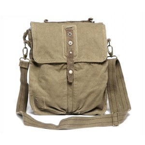 Canvas messenger bag, distressed messenger bag