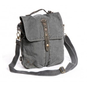 grey distressed messenger bag