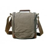 Canvas messenger bag women, eco friendly canvas messenger