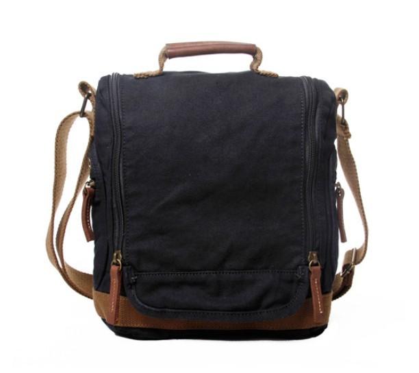 Creative Black Canvas Messenger Bags For Women Canvas Satchels  BagsEarth