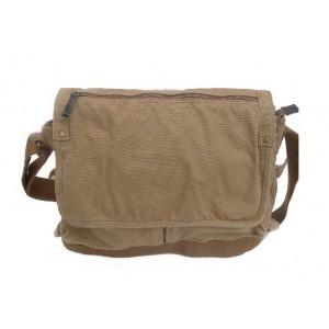 khaki Flapover day bag