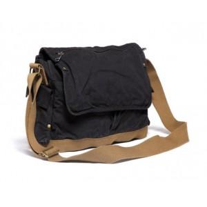 black heavy duty canvas bag