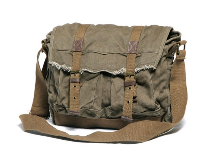 Large canvas bag, large messenger bags for school - BagsEarth