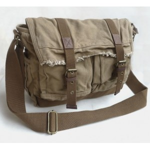 khaki large messenger bags for school
