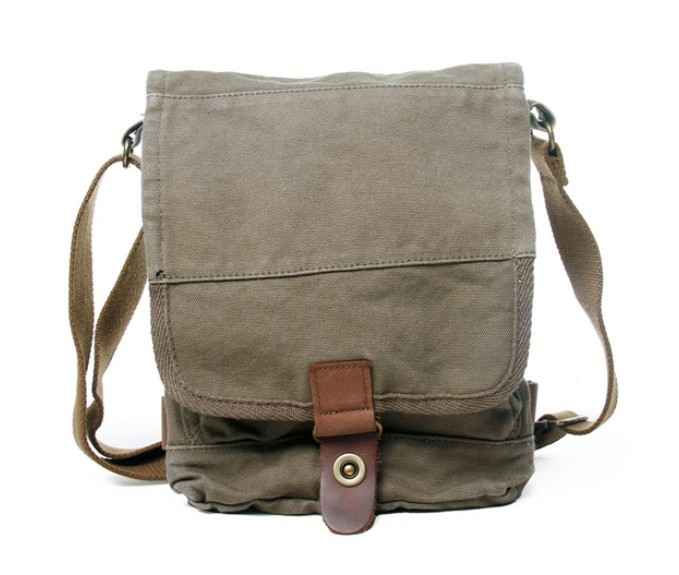 Small canvas shoulder bags, mens canvas satchel bags - BagsEarth