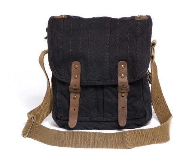 ... iPad canvas shoulder bag khaki · black Canvas messenger bag for men ... 0a7104c43509f