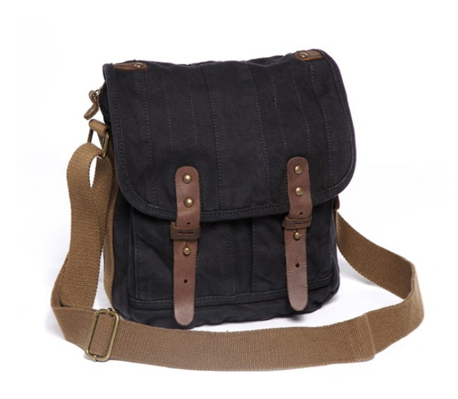 Canvas messenger bag for men, iPad canvas shoulder bag - BagsEarth c68224b96b