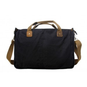 black Military messenger bag