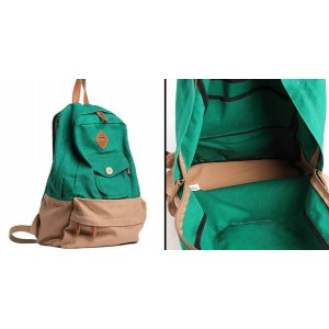 green satchel backpack