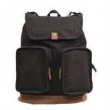 black Vintage canvas knapsack