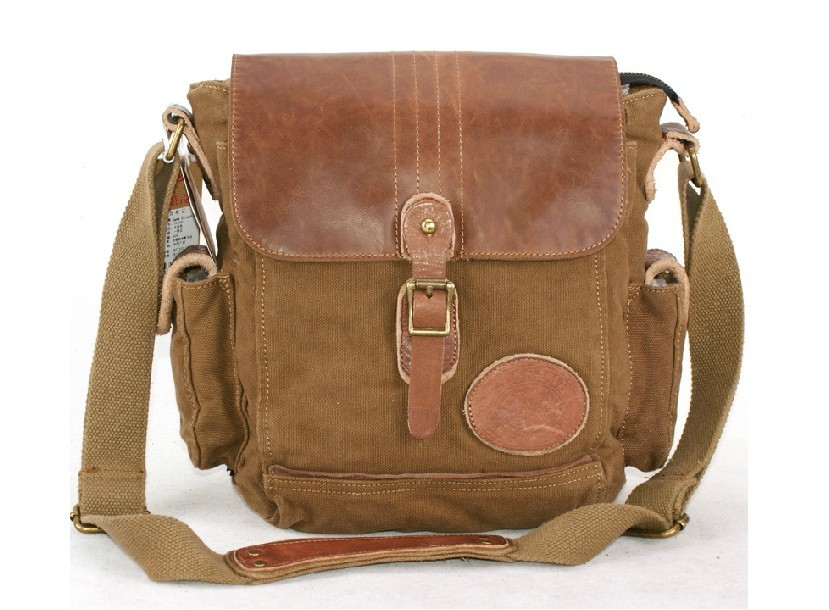Canvas day bag, small messenger bags for men - BagsEarth