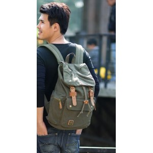 army green school back pack