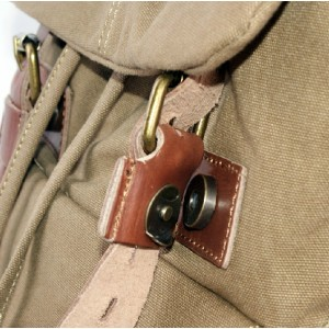 khaki school back pack