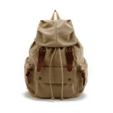 Khaki Waterproof Canvas Rucksack, Army Green School backpack