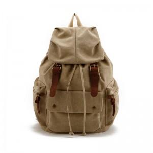 Khaki Waterproof Canvas Rucksack, Army Green School backpack