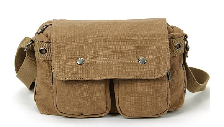 Canvas messenger bags for men, canvas shoulder bag men - BagsEarth