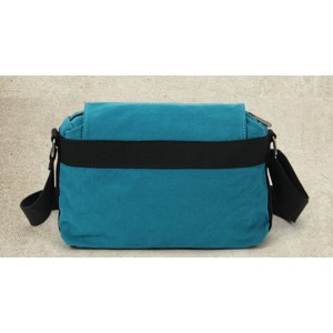 canvas shoulder bag men blue