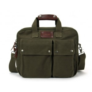 army green Canvas computer bag