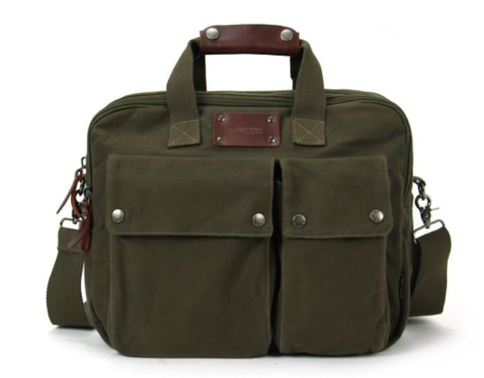 ... army green Canvas computer bag ... 5596f4f4739
