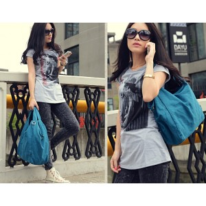 Girls tote bag blue