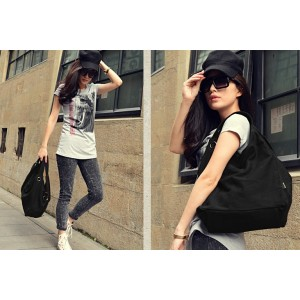Girls tote bag black
