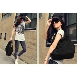 Girls tote bag black