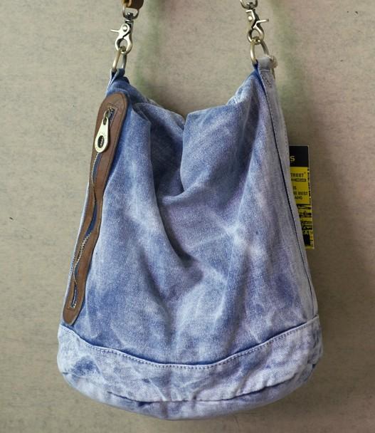 Blue Hobo Messenger Bag Las
